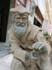 Unknown man statue in Bratislava Old Town