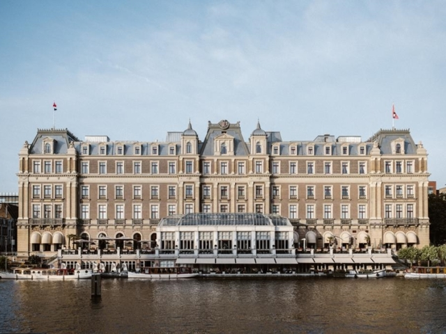 InterContinental Amstel Hotel at the Amstel canal