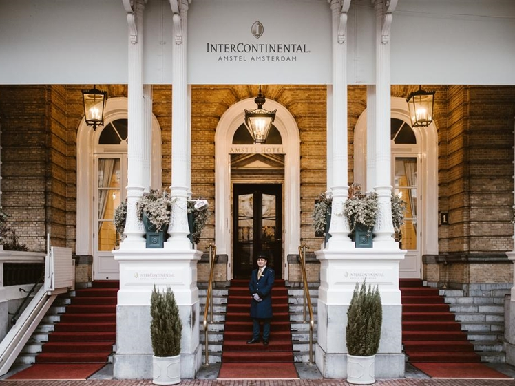 Amstel Hotel entrance