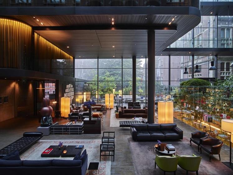 Conservatorium Hotel lobby amsterdam
