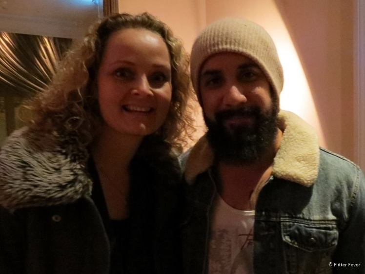Me and AJ McLean from the Backstreet Boys at the Amstel Hotel Amsterdam
