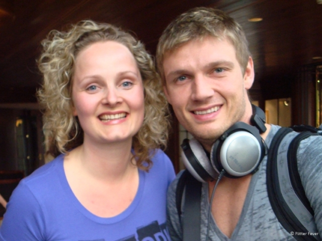 Me and Nick Carter from the Backstreet Boys at an hotel in Cologne, Germany