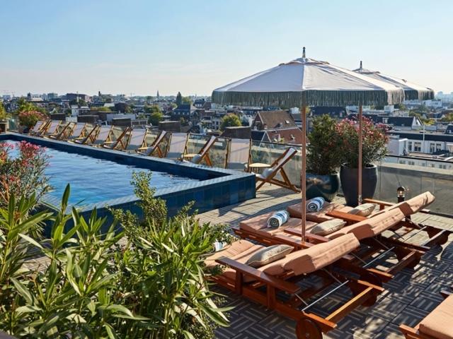 Soho House Amsterdam rooftop pool