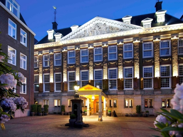 The Grand entrance courtyard Amsterdam hotel