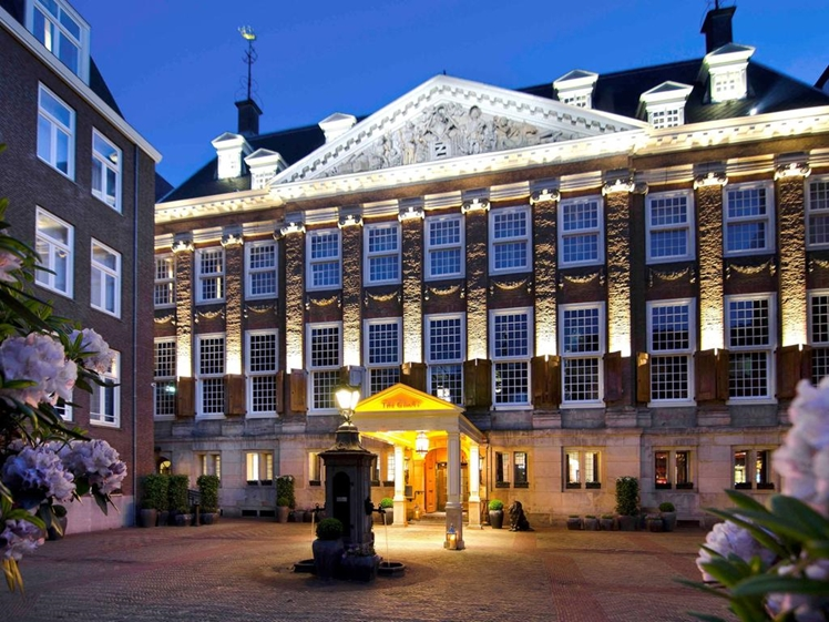 The Grand entrance courtyard hotel Amsterdam