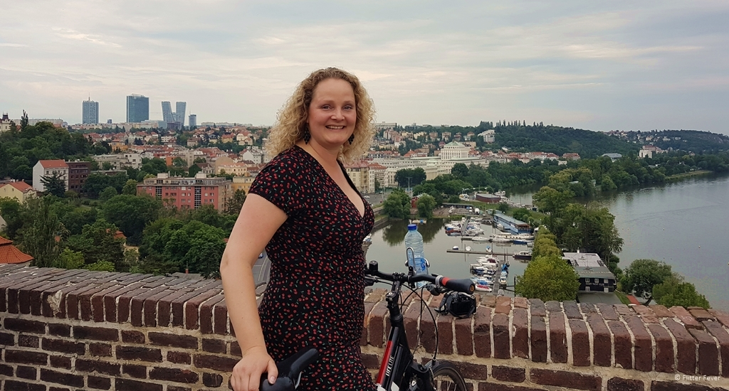 View from Vysehrad during the Hidden Prague Bike Tour