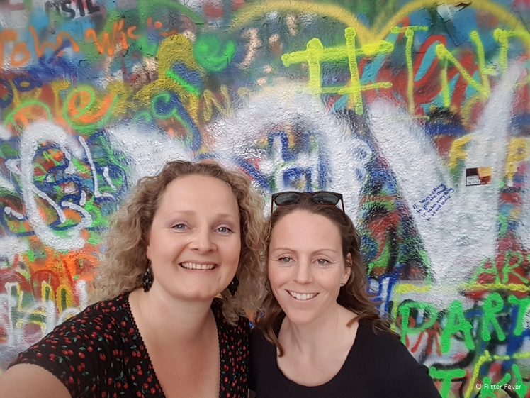 With my friend Saskia (who joined me on this tour) at the John Lennon Wall