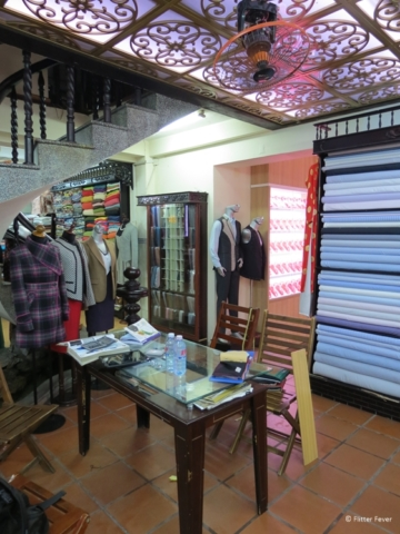 Enough fabrics and colors to choose from at Be Be Tailor Hoi An