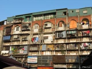 Flats above the Duong Xuan Market in Hanoi