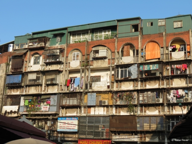 Flats above the Duong Xuan Market in Hanoi