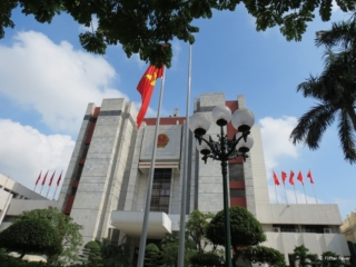 Governmental communistic style building in Hanoi
