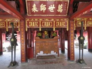Interior of the Van Mieu Temple of Literature Hanoi