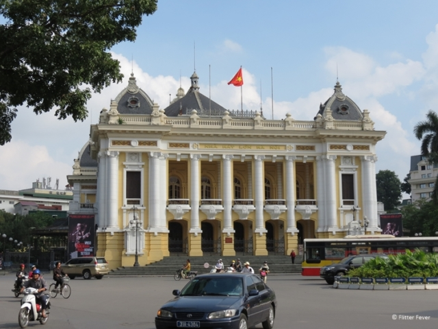 Opera building in the French Quarter of Hanoi