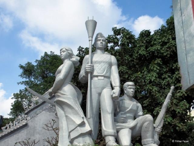 Patriotic statue Hanoi