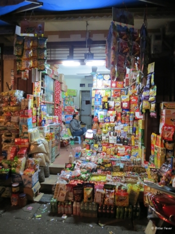 Typical night shop in Hanoi