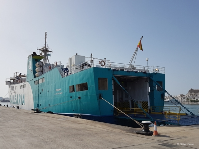 Balearia ferry in Eivissa port Ibiza