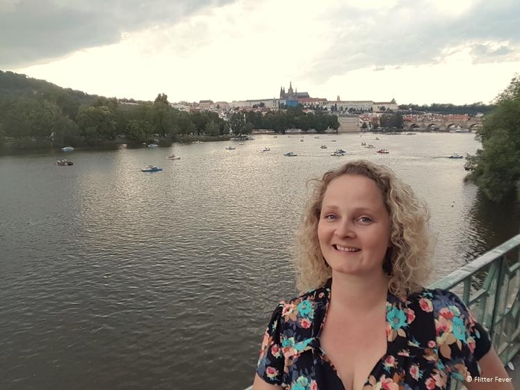Boats in the Vltava River, Prague