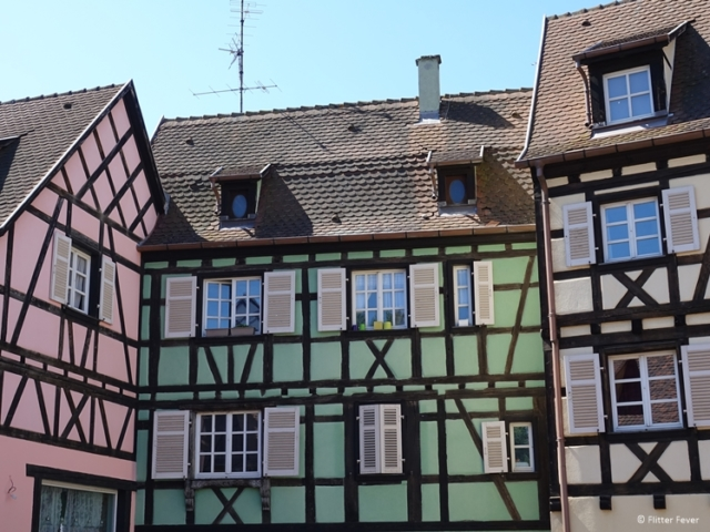 Colorful half-timbered houses at The Fishmonger District in Colmar