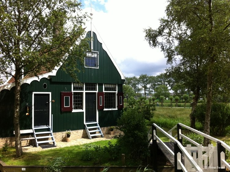 Cute wooden house at Zaanse Schans