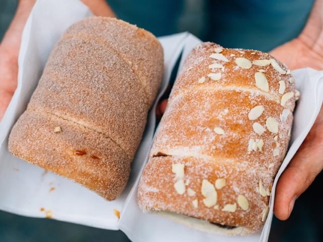 Czech rolls in hands