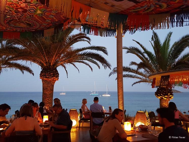 Diner at Aiyanna, Cala Nova, Ibiza