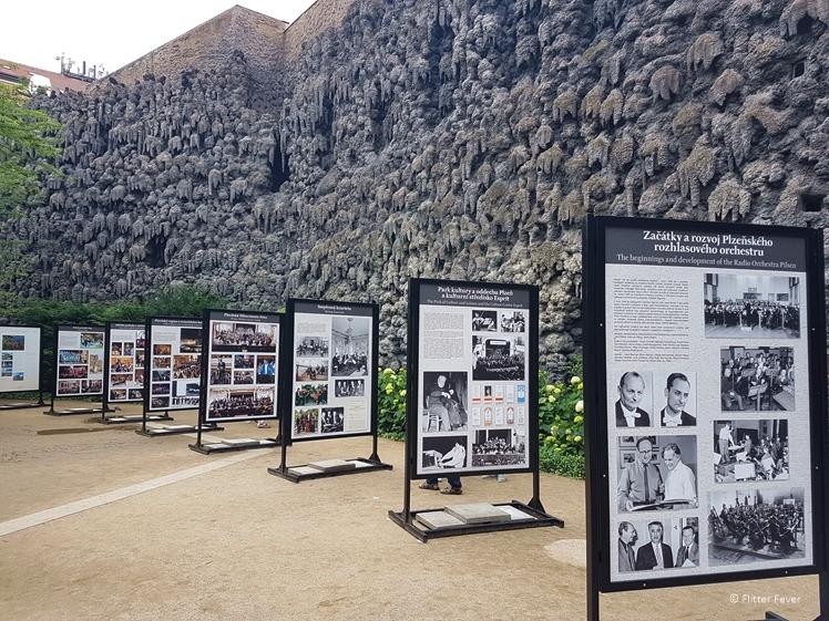 Displays at the Wallenstein Garden Prague