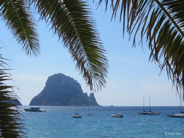 Es Vedra seen from Cala d'Hort beach Ibiza