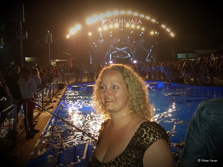 Feeling all hot and sweaty after Calvin Harris show at Ushuaia
