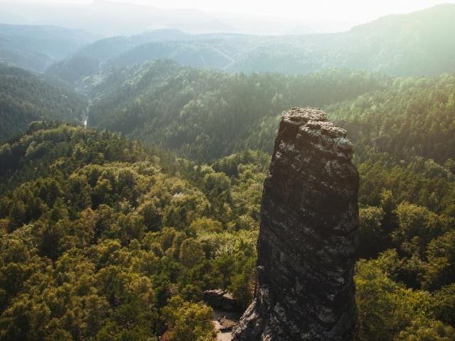 Hřensko in Bohemian Switzerland National Park near Prague