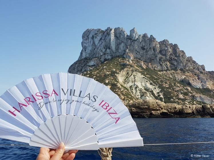 Harissa Villas Ibiza fan at Es Vedra Ibiza