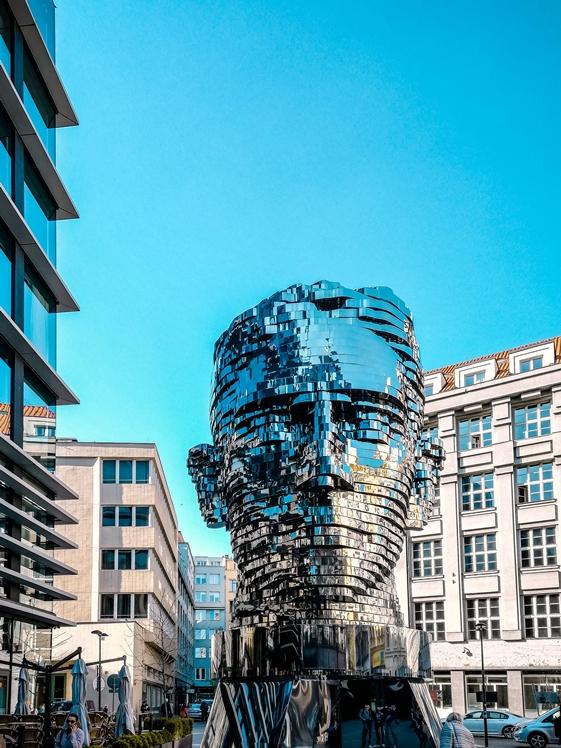 Head of Franz Kafka rotating head