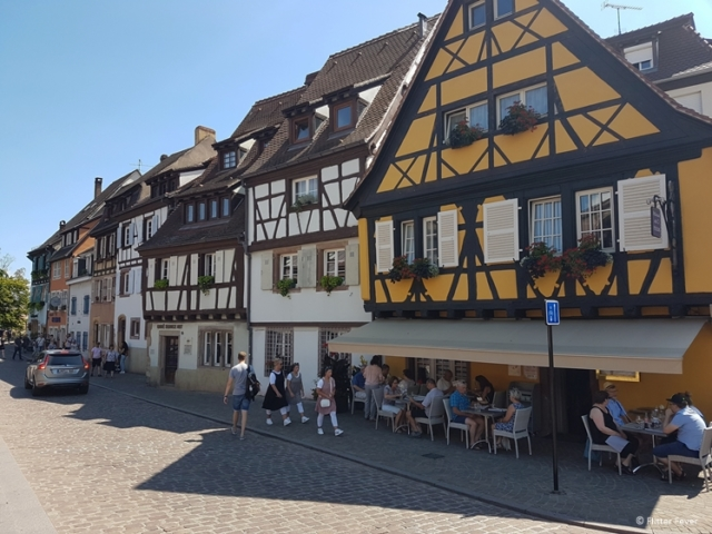 Houses in La Petite Venice in Colmar