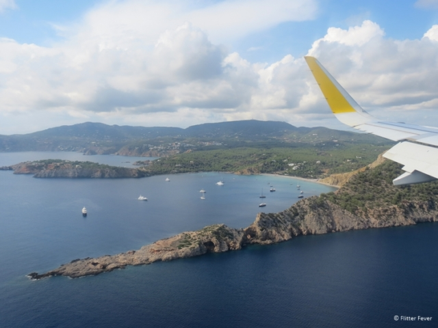 Ibiza view from Vueling plane