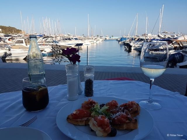 Marina view from Delfino Verde in Santa Eularia Ibiza