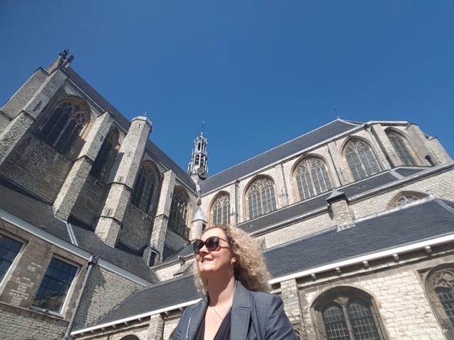 Me in front of the Big Church of Alkmaar