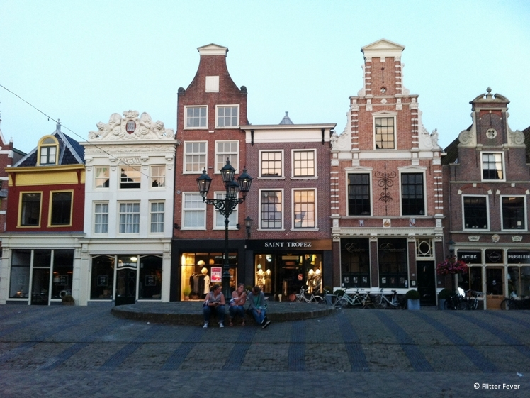 Monumental houses at de Mient Alkmaar