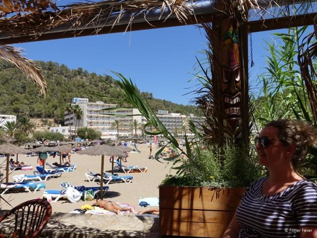 On the beach at Cala Vicente Ibiza