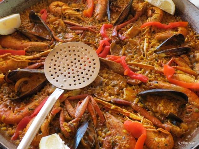 Paella in a pan Ibiza