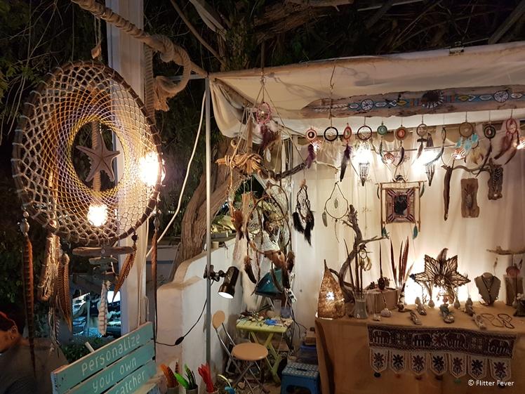 Personalized dream catchers for sale at Las Dalias hippie market Ibiza