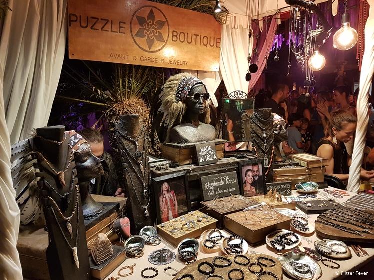 Puzzle Boutique at Las Dalias hippie market Ibiza