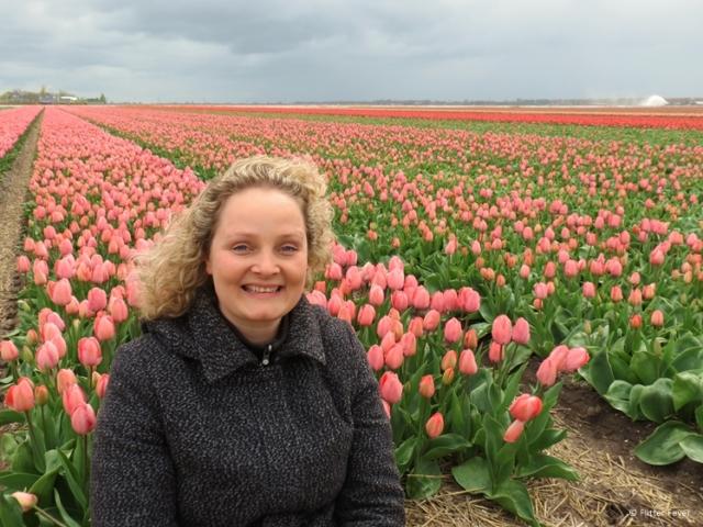 Sitting in the tulip fields a few years ago