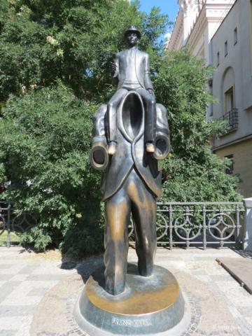 The Statue of Franz Kafka a.k.a. Kafka Monument in Prague
