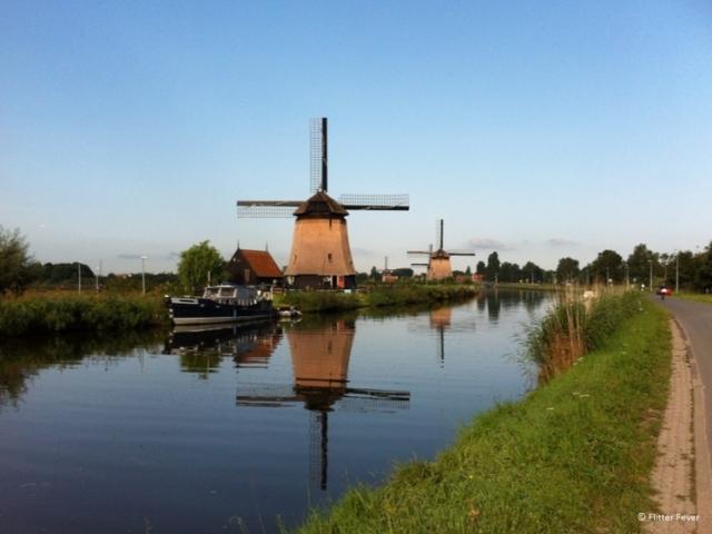Windmills in Alkmaar at the Hoornse Vaart