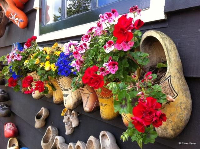 Wooden clogs on the wall at Zaanse Schans