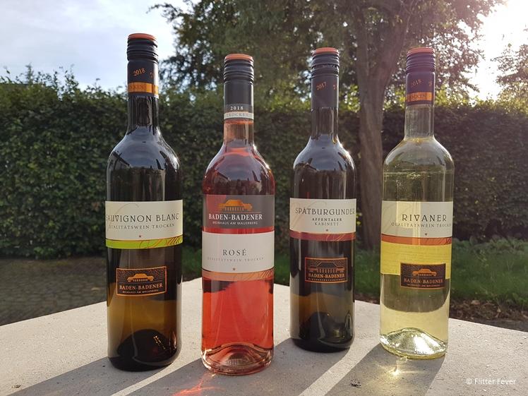 Baden-Badener wine bottles