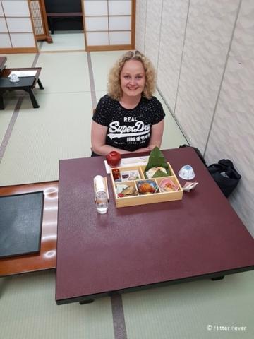 Dinner time at Hotel Fuki no Mori in Nagiso