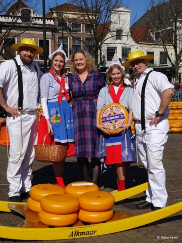 Hanging out with the Cheese market staff Alkmaar