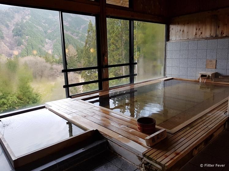 Indoor onsen bath at Hotel Fuki no Mori