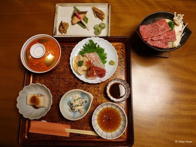 Kaiseki multi-course dinner at Yudanaka Yumoto