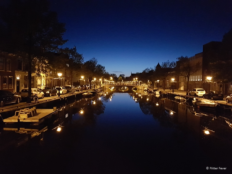 Oudegracht in Alkmaar at blue hour
